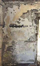plaster burnt burned burn wall