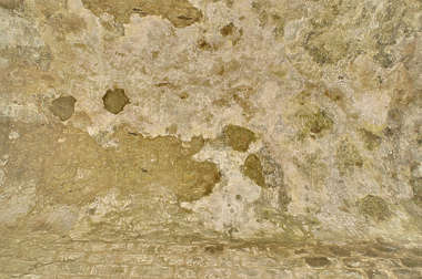 plaster ceiling old medieval dirty