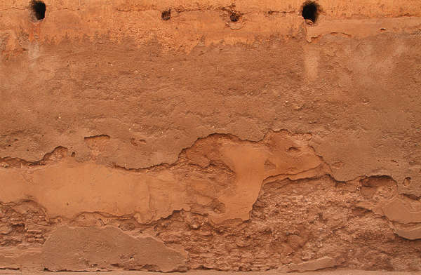 plaster morocco painted bare gradient old weathered damaged rough