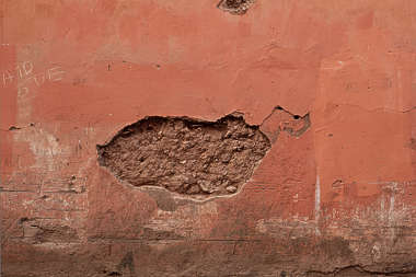 plaster morocco painted damaged old colored