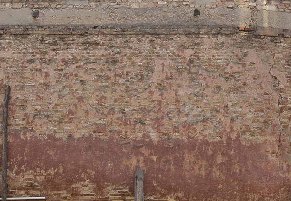 venice italy brick plastered modern weathered old damaged