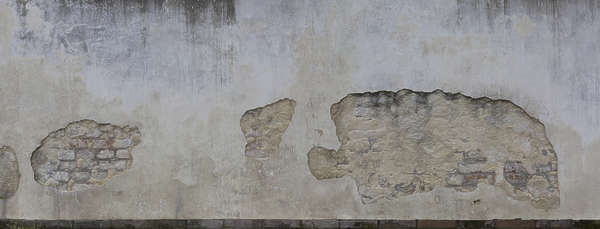plaster damaged brick gradient old venice italy