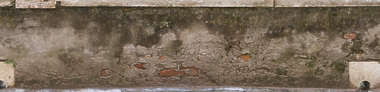 plaster damaged wall bare dirty old venice italy