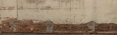 plaster worn old damaged bricks brick venice italy