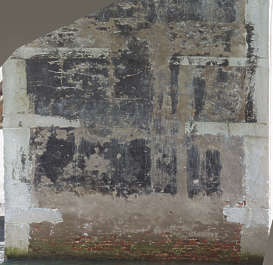 venice italy plaster damaged dirty bridge old