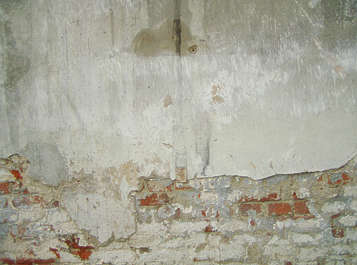 plaster damaged wall brick small