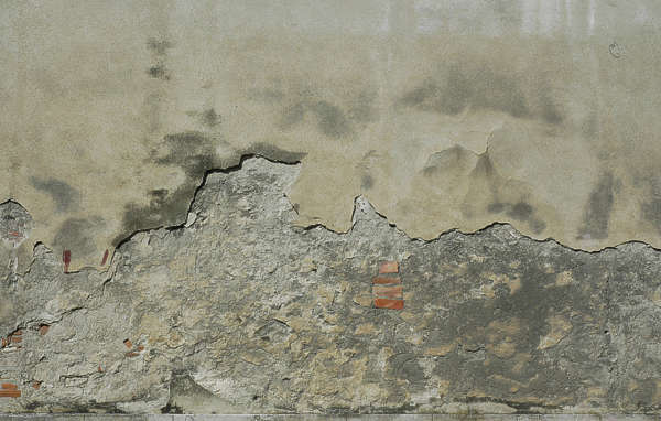 plaster damaged wall bare