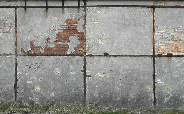 brick wall concrete plaster old