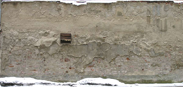 plaster damaged wall