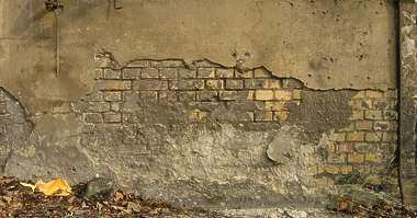 plaster damaged brick small