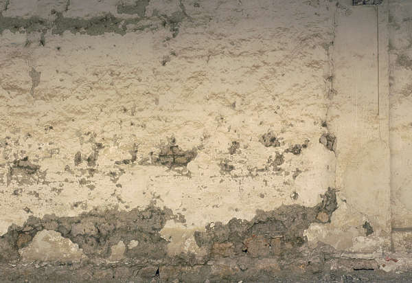 plaster wall damaged old