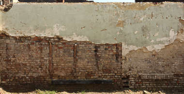 brick old wall plaster damaged