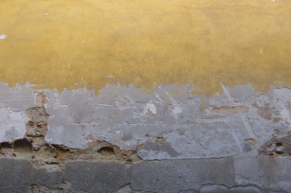 concrete paint damaged