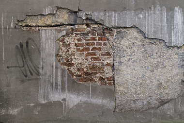 plaster damaged damage brick bricks