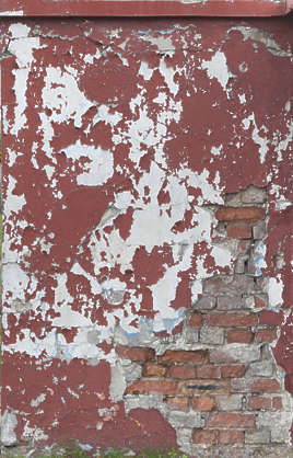 plaster painted paint worn damaged damage bricks brick plaster painted paint worn colored