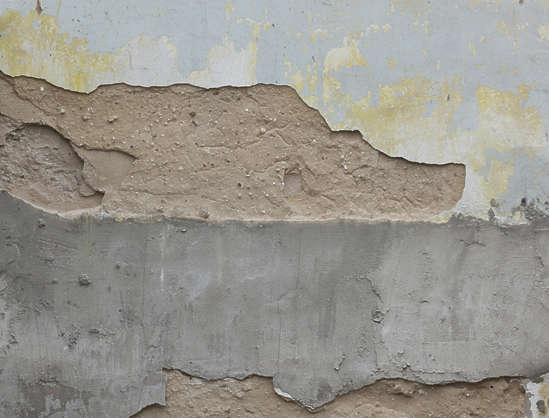 plaster edge bare damage damaged