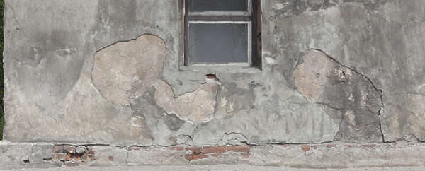 plaster bare damaged damage