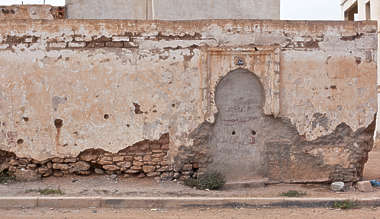 wall plaster damaged old morocco