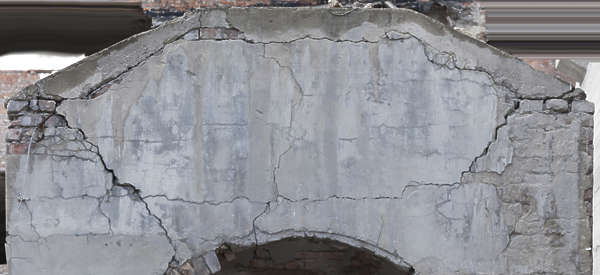plaster bare dirty damaged structure circle