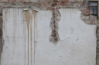 plaster damaged old dirty leak leaking