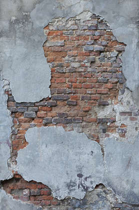 plaster damaged damage brick weathered