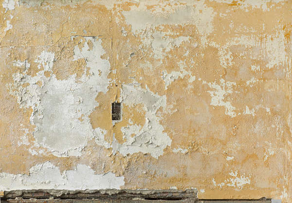 plaster painted weathered worn torn