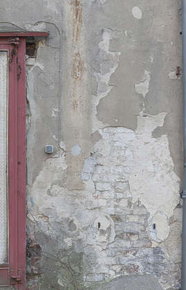 wall plaster damaged weathered old dirty