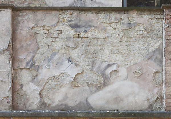 plaster old weathered damaged