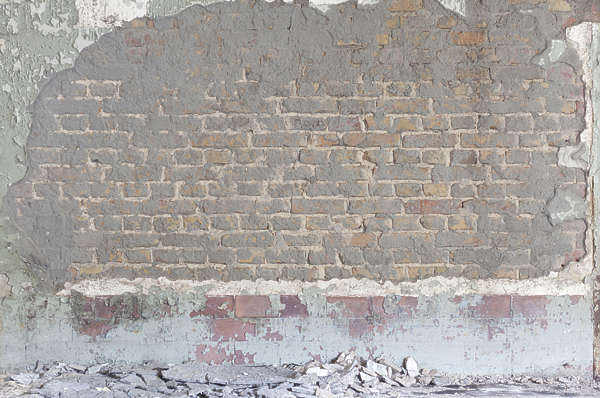 plaster damaged brick small modern