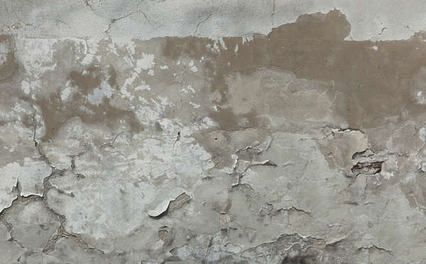 plaster damaged old