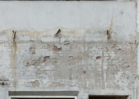 plaster painted damaged old