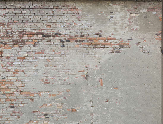 plaster damaged brick modern old weathered germany