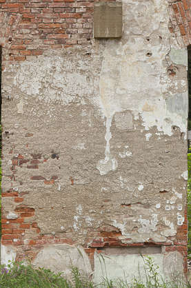 brick bricks modern plaster damaged