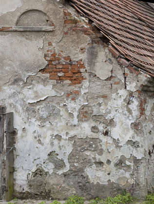 plaster damaged weathered