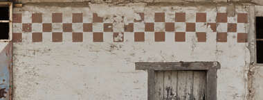 plaster wall painted worn weathered spain
