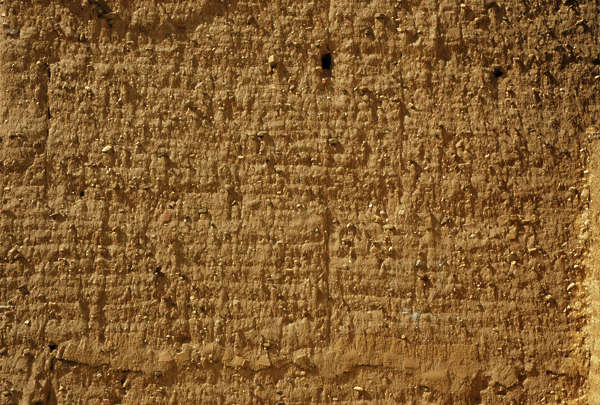 Loam wall medieval sand clay