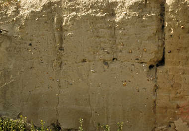 concrete loam wall clay sand old medieval