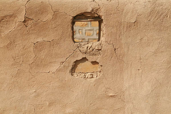 india plaster loam wall sand cracks cracked clay