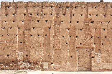 wall old plaster stone loam morocco clay