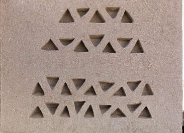morocco loam wall mud plaster old medieval clay straw ornament triangles