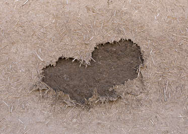 morocco loam wall mud plaster old medieval damaged hole clay straw