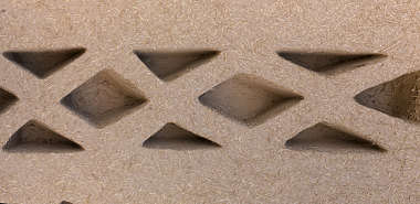 morocco loam wall mud plaster old medieval clay ornament border triangles