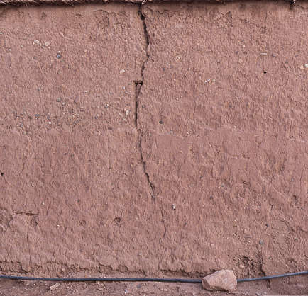 morocco loam wall mud plaster old medieval clay crack