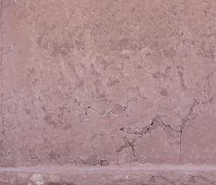 morocco loam wall mud plaster old medieval eroded clay
