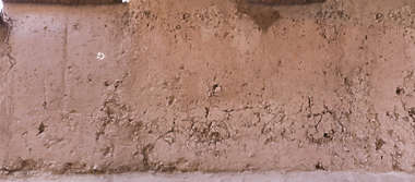morocco loam wall mud plaster old medieval eroded worn clay