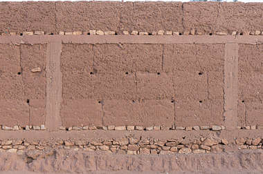 morocco loam wall mud plaster old medieval clay blocks