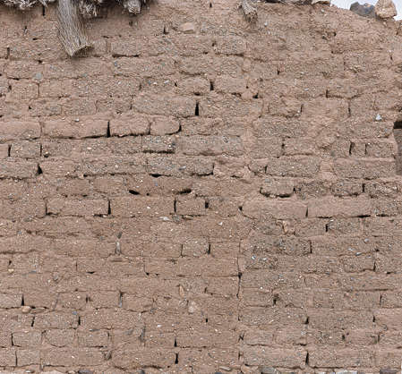 morocco loam wall mud plaster old medieval bricks clay