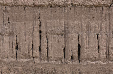 morocco loam wall mud plaster old medieval worn eroded clay