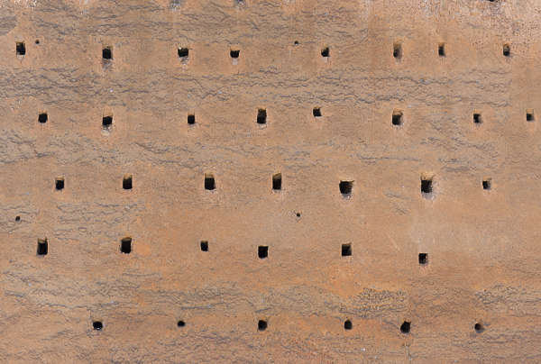 morocco plaster medieval wall fortress loam clay