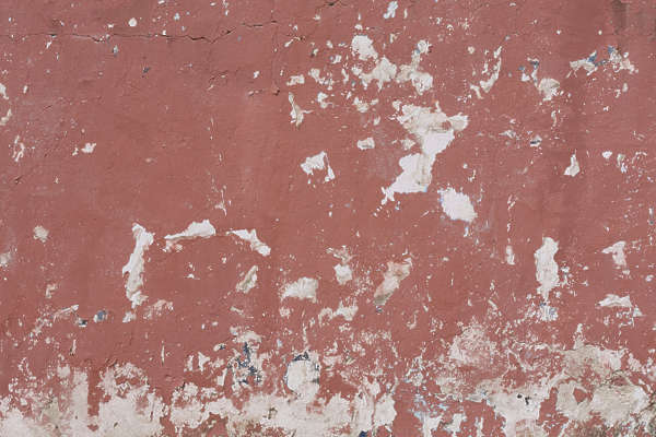 plaster colored worn